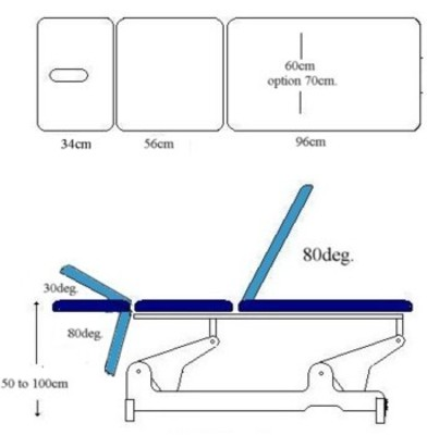 Awe Inspiring Abco Physiotherapy Manipulation Couch 3 Section Details Theyellowbook Wood Chair Design Ideas Theyellowbookinfo